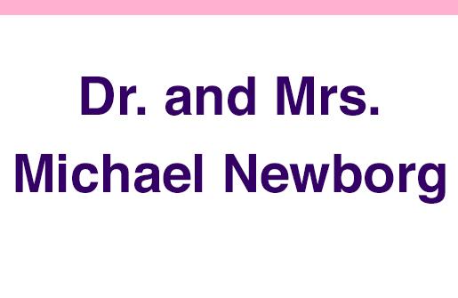 Dr. and Mrs. Michael Newborg