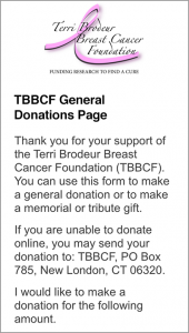 TBBCF General Donation Page