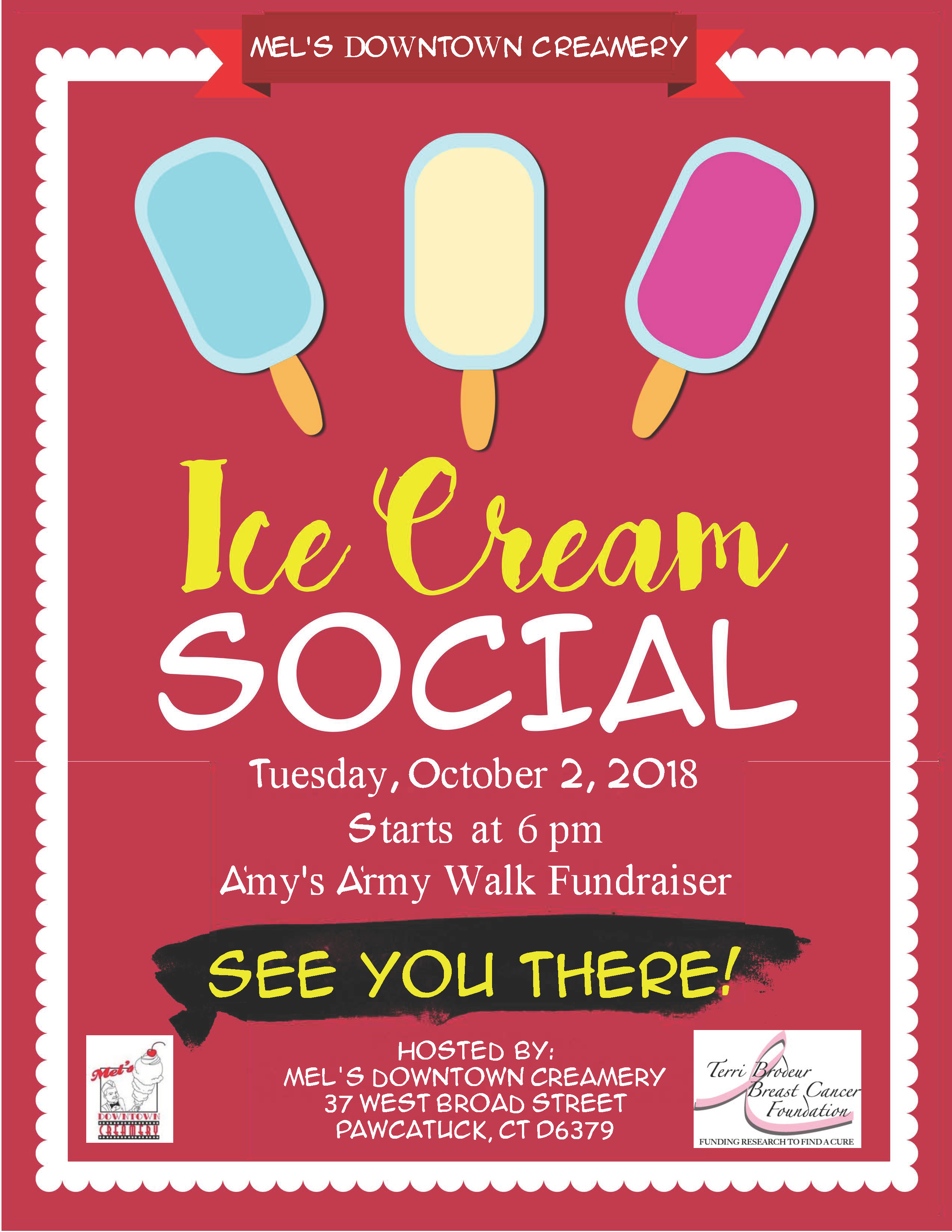 ice cream social flyer with amy edit terri brodeur breast cancer
